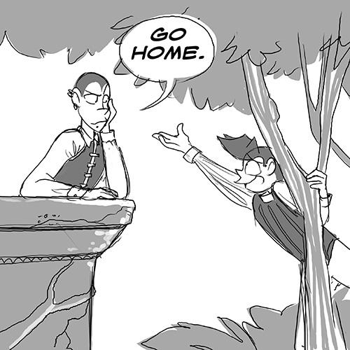 Go home.